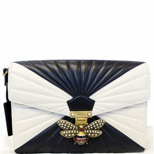 GUCCI Queen Margaret Matelasse Leather Clutch Bag